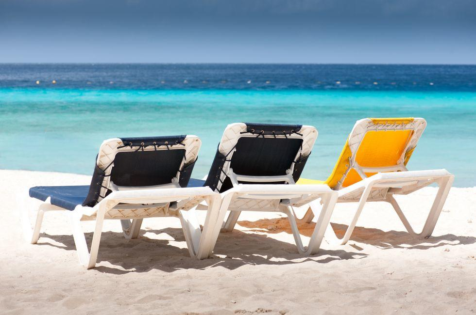 Chairs, Seaside, Pink Beach, Antigua