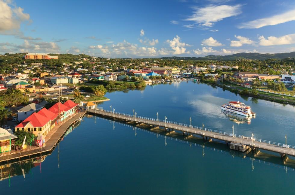 Waterfront, Bridge, St. Johns, Antigua,