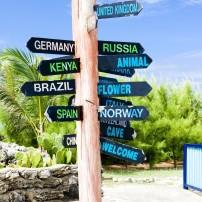 Guidepost, North point, Barbados, Caribbean