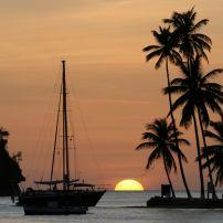 Sunset, Marigot Bay, St. Lucia, Caribbean