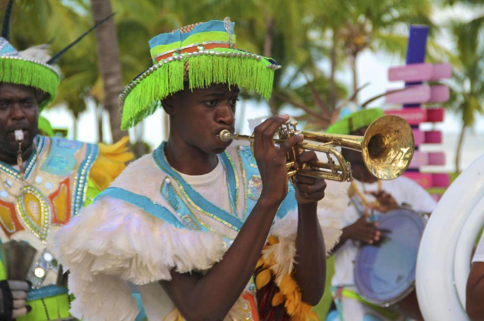 Trumpet Player, Junkanoo Festival, Freeport, Grand Bahama Island, The Bahamas, Caribbean
