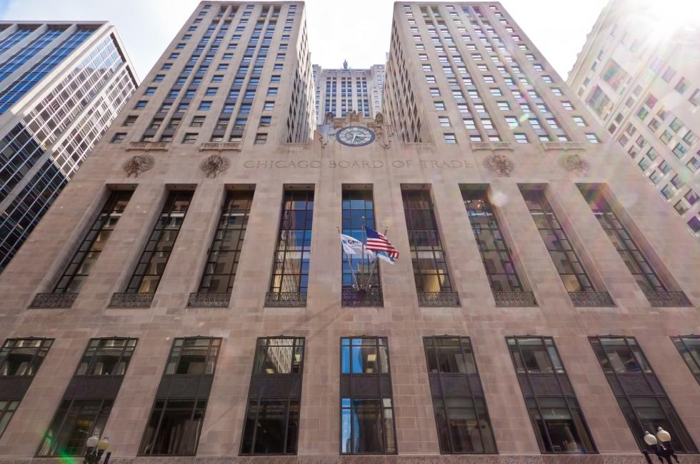 Facade, Chicago Board of Trade, Chicago, Illinois, USA