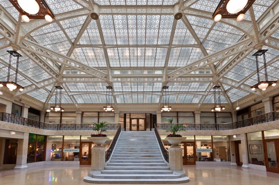 Main Lobby, The Rookery, Chicago, Illinois, USA