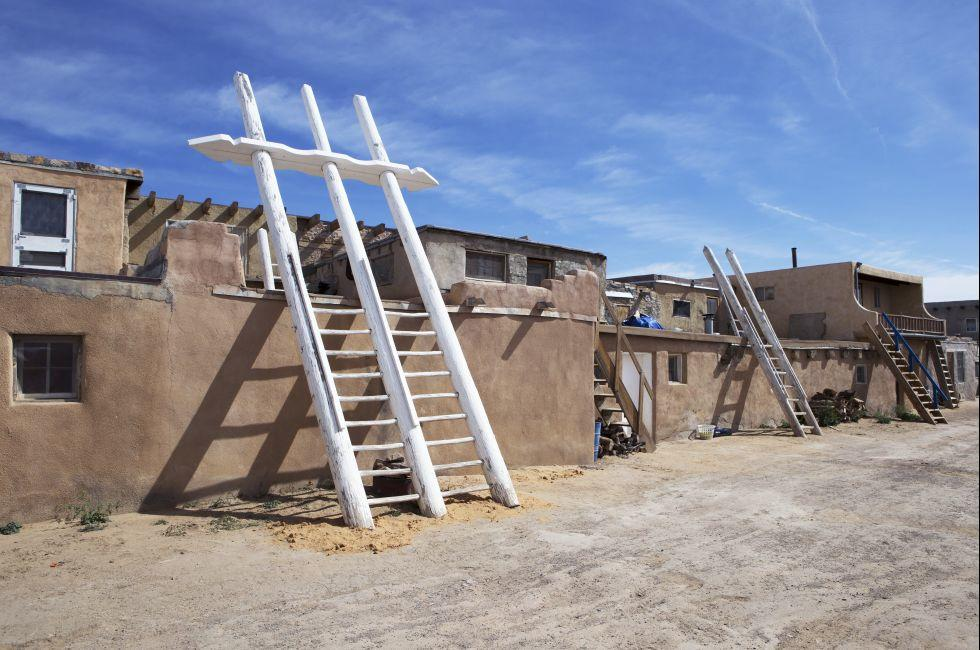 Adobe Houses, Acoma Pueblo, Sky City, New Mexico