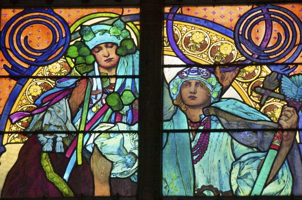 St. Vitus Cathedral (Chrám svatého Víta), Pražský Hrad (Prague Castle), Prague, Czech Republic, Europe.