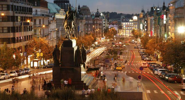 Statue of St. Wenceslas, Wenceslas Square, Nové Město (New Town) and Vyšehrad, Prague, Czech Republic, Europe.