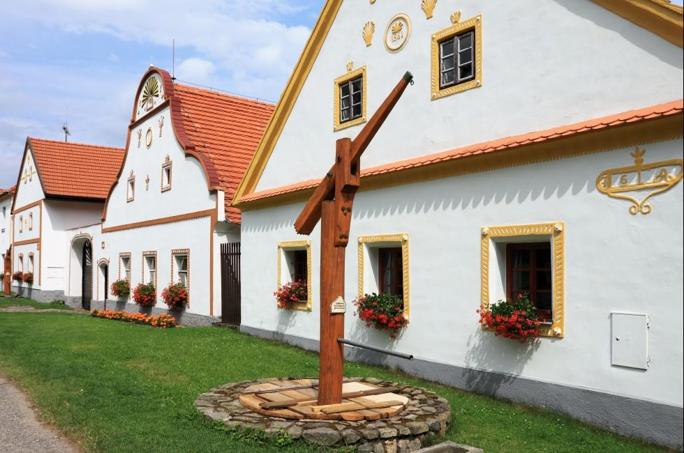 Houses, Holasovice, Southern Bohemia, Czech Republic