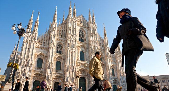Crowd, Il Duomo, Milan, Italy