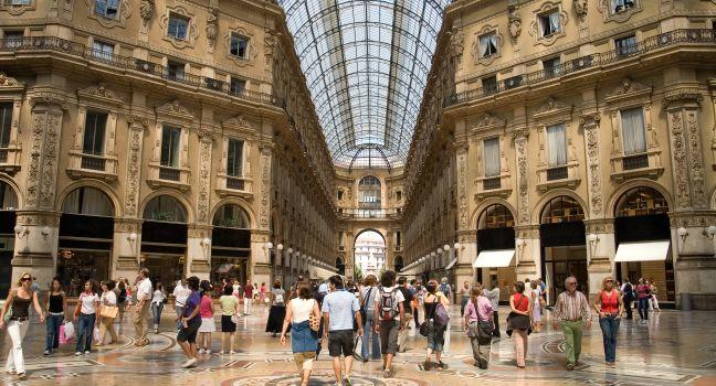 Galleria Vittorio Emanuele II, Duomo, Milan, Milan, Lombardy, and the Lakes, Italy, Europe.