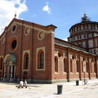 Exterior, Santa Maria delle Grazie, Milan, Milan, Lombardy, and the Lakes, Italy, Europe.