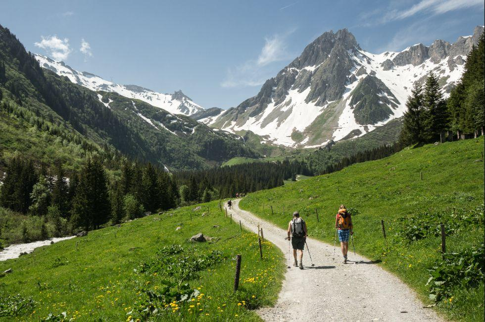 Hikers, Mont Blanc, Alps, France