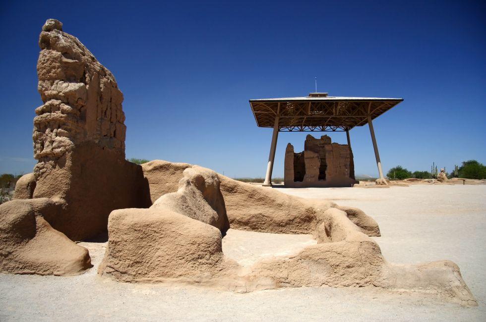 Desert, Ruins, Casa Grande National Monument, Arizona, USA