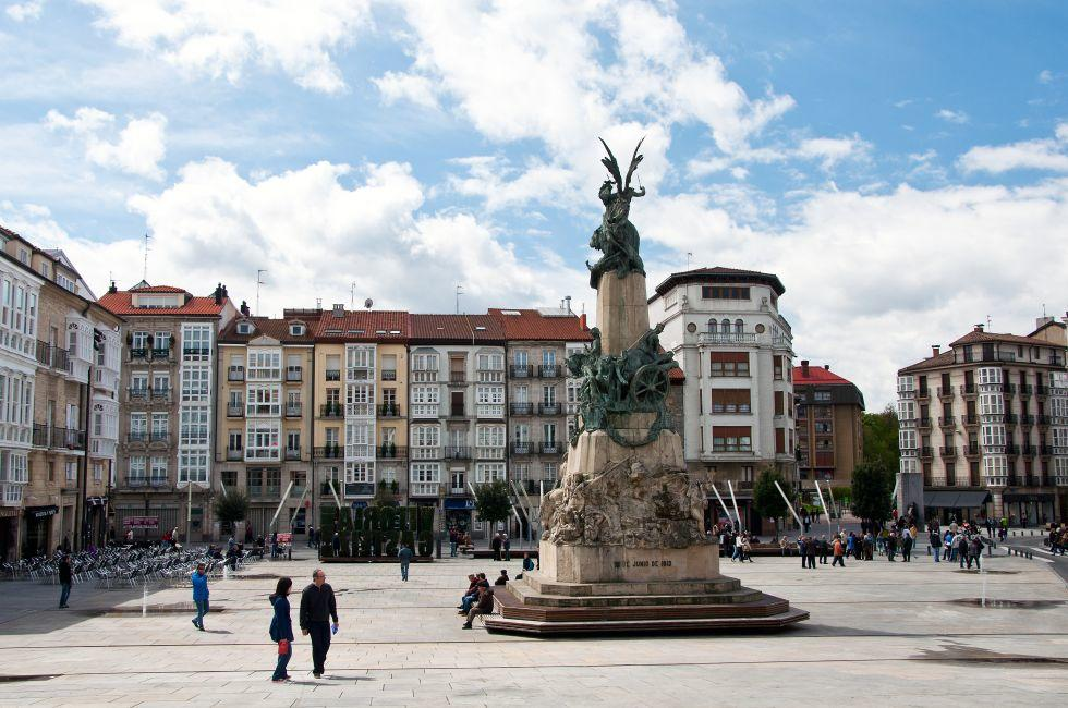 Virgen Blanca Square, Vitoria-Gasteiz, Spain