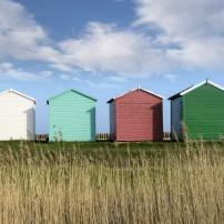 Beach Huts, Calshot, Southampton, Hampshire, England