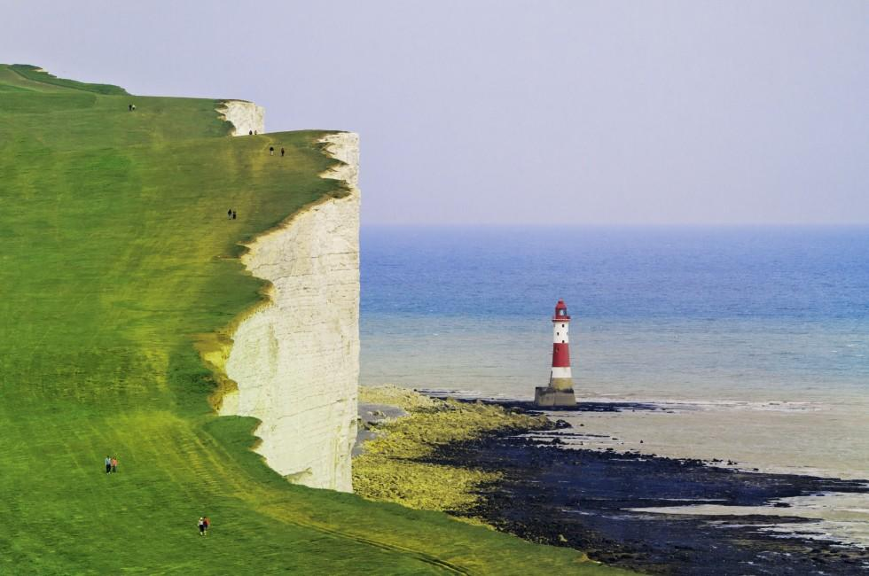 Lighthouse, White Cliffs, The South, England