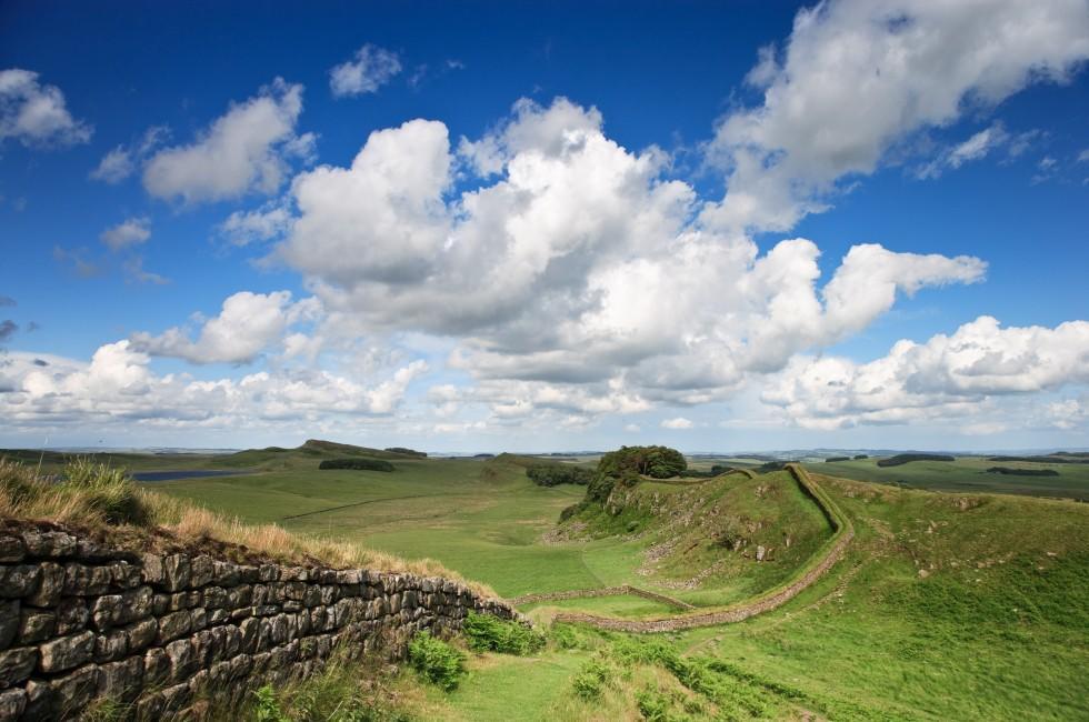 Hadrian's Wall, Northumberland, The Northeast, England
