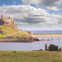 Lindisfarne Castle, Holy Island harbor, The Northeast, England