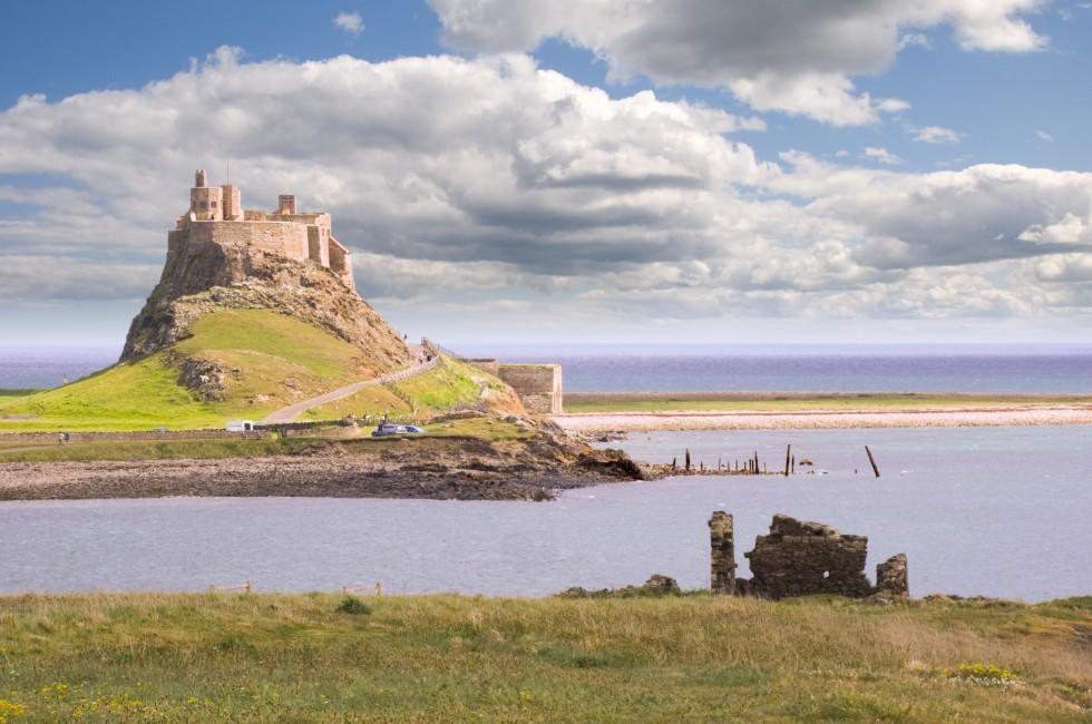 Lindisfarne Castle, Holy Island harbor, The Northeast, England