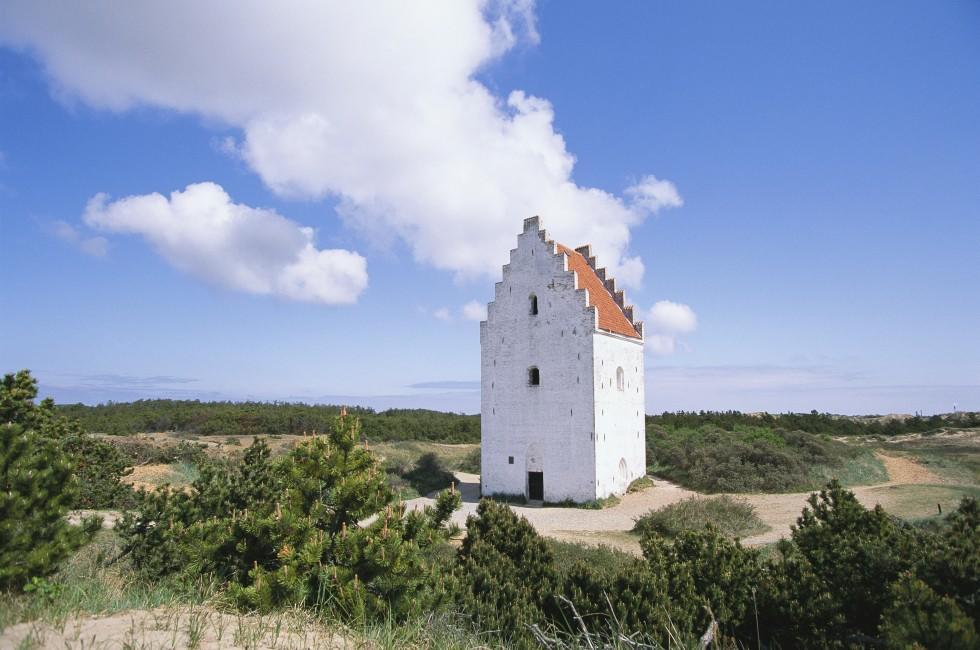 Sand Covered Church, Skagen, Jutland, Denmark
