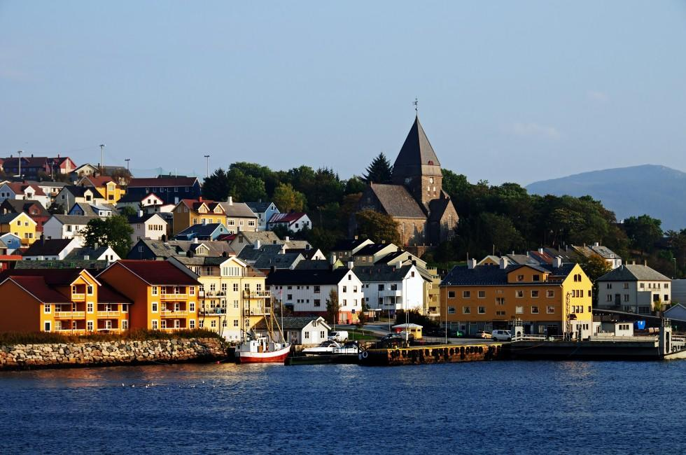 Church, Waterfront, Harbor, Kristiansund, Southern Norway, Norway