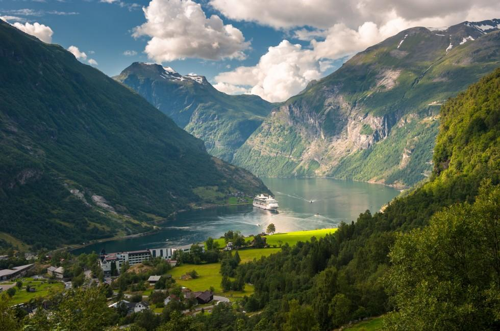 Cruise, Geiranger Fjord, The West Coast, Norway