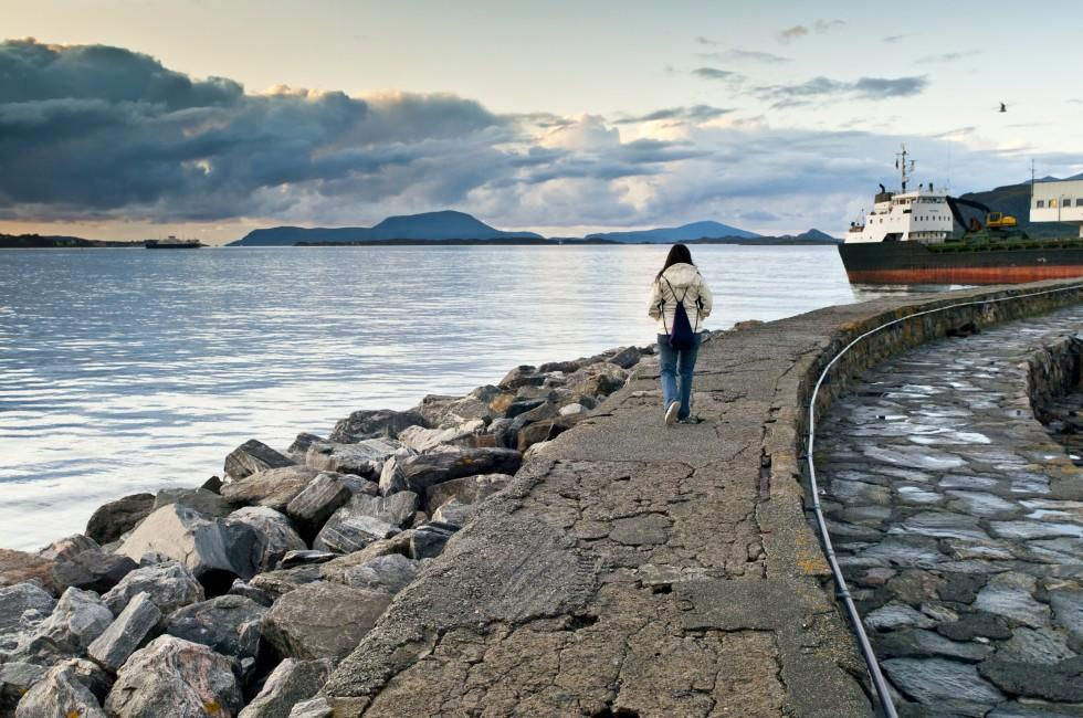 Jetty, Woman, Boat, Alesund, The West Coast, Norway