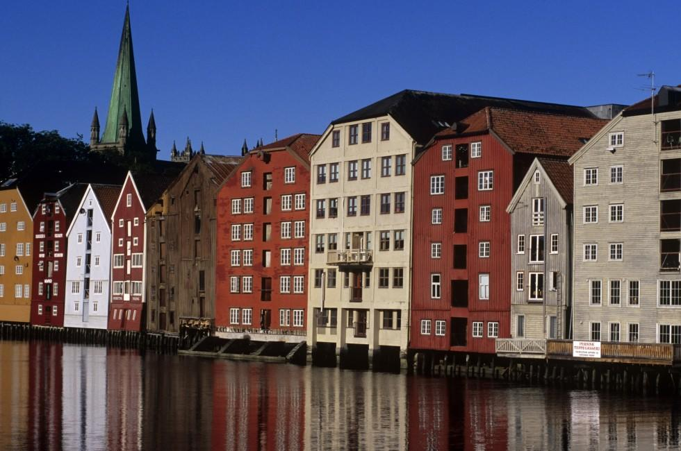 Waterfront, Trondheim city, Trondheim to the North Cape, Norway