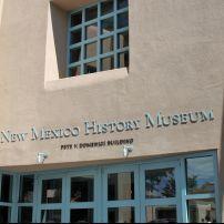 Entrance, The New Mexico History Museum, Santa Fe, New Mexico, USA