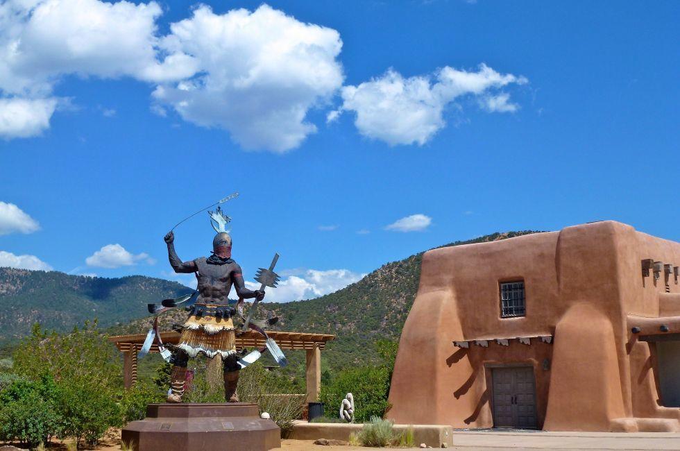 Plaza, MOIFA, Museum of International Folk Art, Santa Fe, New Mexico, USA
