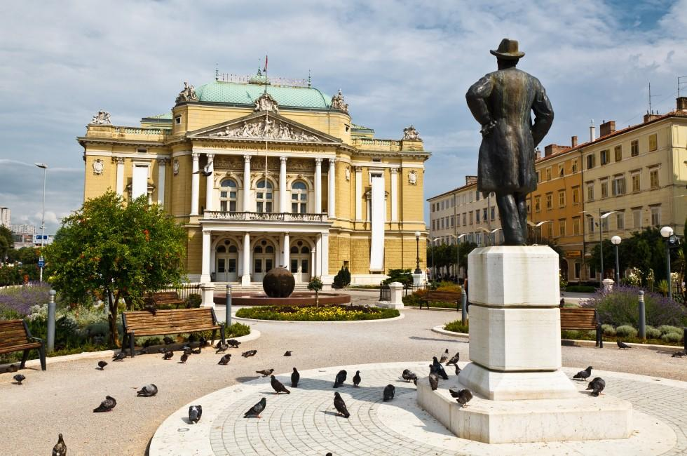 Kasalisni Park, Croatian National Theater, Rijeka, Kvarner, Croatia