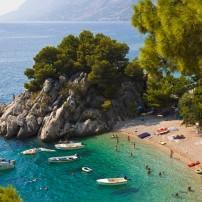 Beach, Brela, Croatia