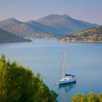 Sailboat, Bay, Dalmatia, Croatia