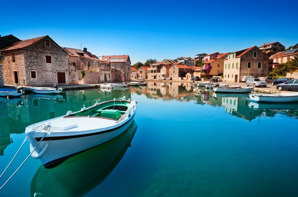 Seaside, Harbor, Boat, Hvar, Split and Central Dalmatia, Croatia