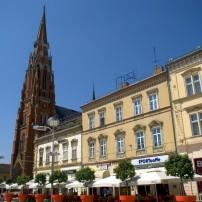 Cathedral, Main Square, Osijek, Croatia