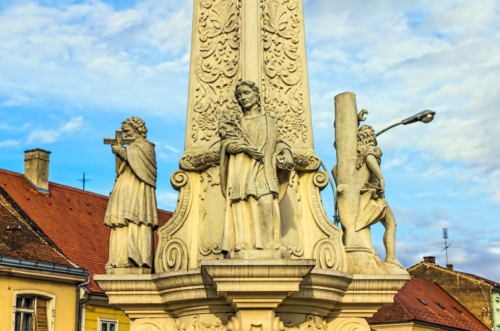 Votive Column, Main Square, Pozega, Croatia
