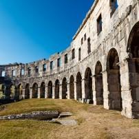 Ancient Roman Anphitheater, Pula, Istria, Croatia