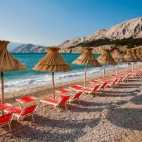 Beach, Baska, Krk, Croatia