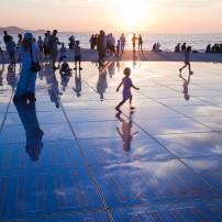 People, Sunset, Adriatic Sea, Zadar, Croatia