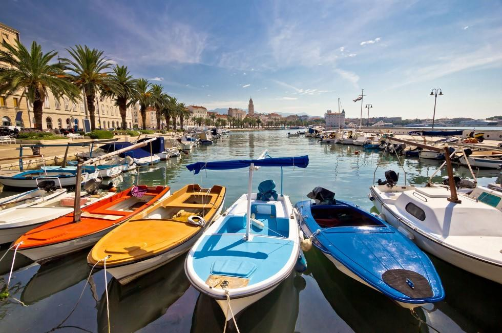 Boats, Harbor, Split, Dalmatia, Croatia