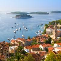 Cityscape, Rooftops, Harbor, Hvar, Split and Central Dalmatia, Croatia