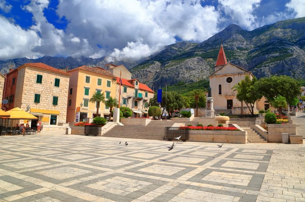Town Square, Makarska, Croatia