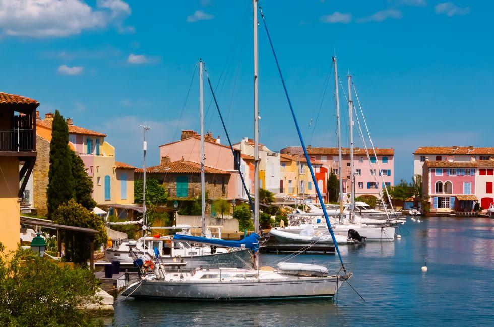 Yachts, Port-Grimaud, The French Riviera, France
