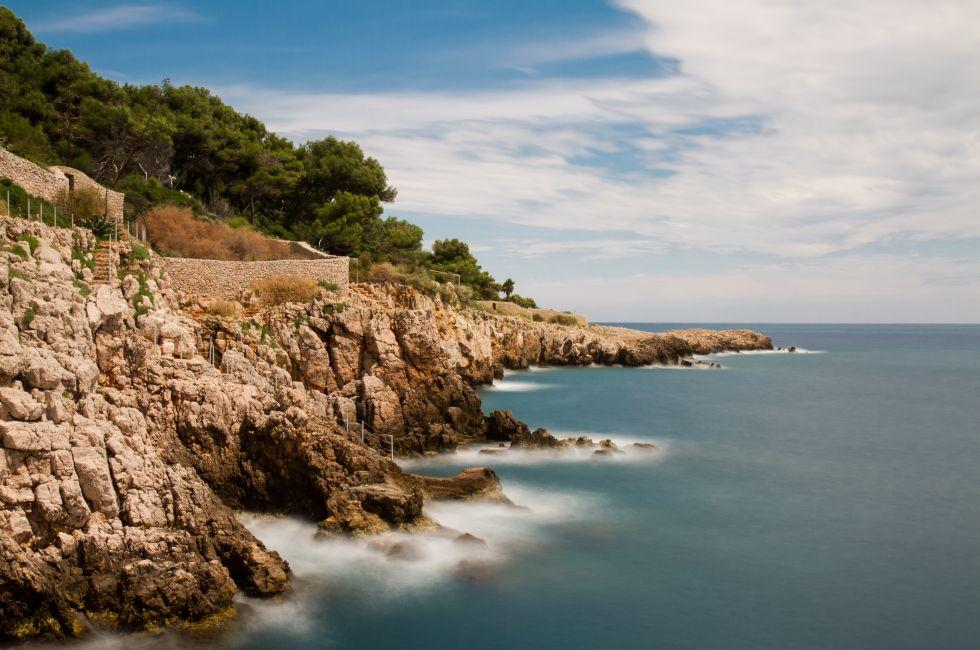 Coastline, Cap d'Antibes, The French Riviera, France