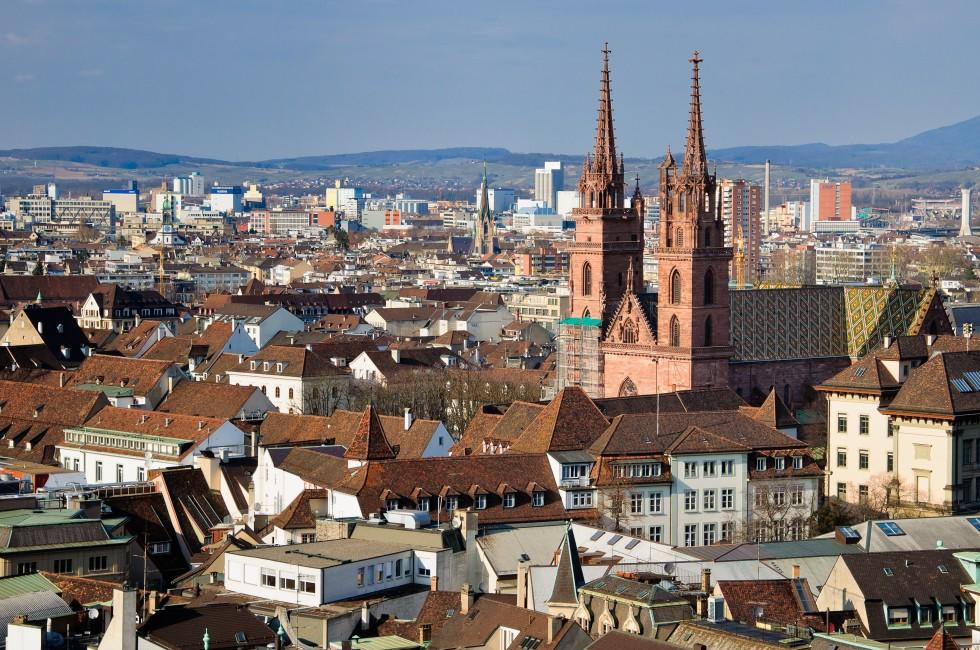 Cityscape, Munster Cathedral, Basel, Switzerland