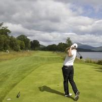 Golfing in Loch Lomond, Scotland