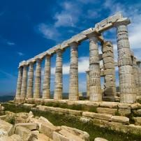 Temple of Poseidon, Cape Sounion, Attica, the Saronic Gulf Islands, Greece