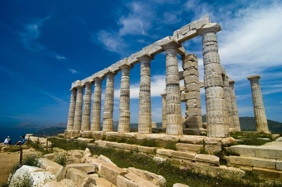 Temple of Poseidon, Cape Sounion, Attica, the Saronic Gulf Islands, Greece