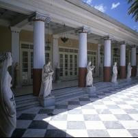 Courtyard, Achillion Palace, Corfu, Greece