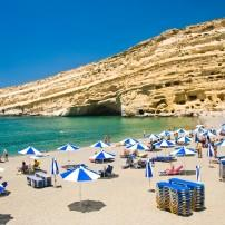 Beach, Matala, Crete, Greece