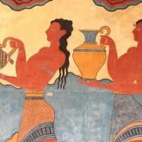 Fresco, Palace of Knossos, Crete, Greece